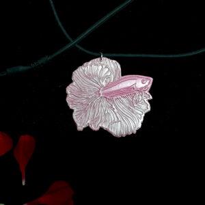 Pink Betta Necklet