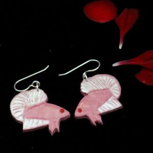 Soft Pink Betta Earrings
